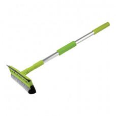 Стекломойка ЛЮБАША, алюминиевая телескопическая ручка 50-90 см, рабочая часть 25 см