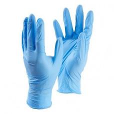 Перчатки нитриловые L Aviora синие неопудренные