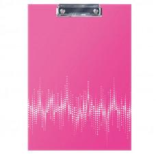 """Планшет с зажимом А4 ламинированный, неоновый розовый Berlingo """"Neon"""""""