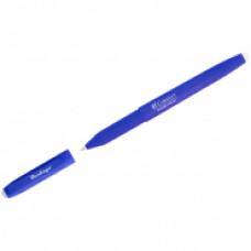 """Ручка гелевая синяя 0,6 мм. стираемая Berlingo """"Correct"""" прорезин. корпус"""