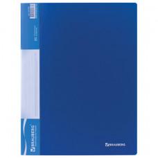 Папка 20 вкладышей синяя, 0,6 мм кор 16 мм  BRAUBERG стандарт