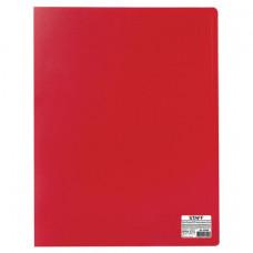 Папка 20 вкладышей  красная, 0,5 мм,  кор 16 мм STAFF, эконом
