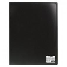 Папка 20 вкладышей  черная, 0,5 мм, кор 16 мм   STAFF