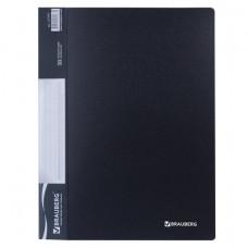Папка 30 вкладышей  черная, 0,6 мм  кор 30 мм ,BRAUBERG стандарт