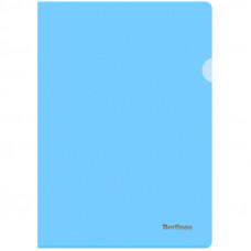 """Папка-уголок А4 180мкм, прозрачная голубая Berlingo """"Starlight"""""""