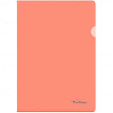 "Папка-уголок А4 180мкм, прозрачная оранжевая Berlingo ""Starlight"""