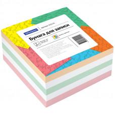 Блок для записей 90х90х45 мм цветной непроклеенный OfficeSpace
