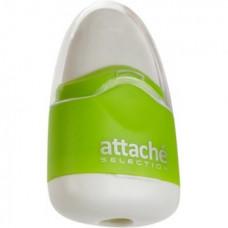 Точилка пластиковая+ластик с/к 1 отверстие Attache Selection