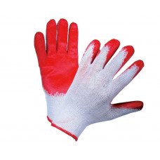 Перчатки х/б обливная ладонь, облив в 1 слой