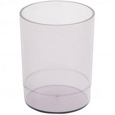 """Подставка-стакан Стамм """"Офис"""", пластик, круглый, тонированный серый"""