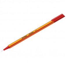 """Ручка капиллярная  0,4  мм, красная Berlingo """"Rapido"""" трехгранная"""