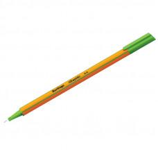 """Ручка капиллярная  0,4  мм, светло-зеленая Berlingo """"Rapido"""" трехгранная"""