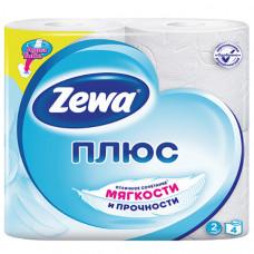 Туалетная бумага 2-х сл. 4шт/уп белая ZEWA Plus