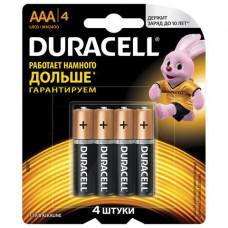 Батарейка LR03 ААА DURACELL BASIC 4 шт/уп