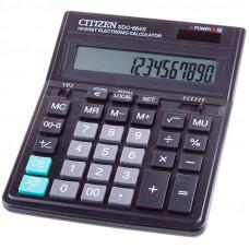 Калькулятор настольный 16 разр. Citizen SDC-664S , двойное питание, 153*199*31 мм, черный