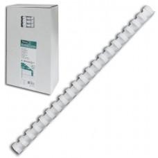 Пружины пластик 16 мм для переплета FELLOWES, комплект 100 шт., для сшивания 101-120 л., белые,