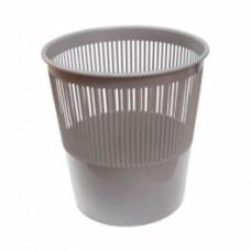 Корзина для мусора 9л. серая сетчатая