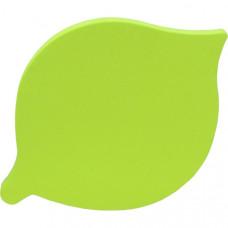 Самоклеящийся блок фигурный 76х76 мм 66 л. зелёный ЛИСТОК