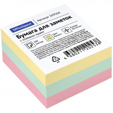 Самоклеящийся блок 50х50 мм 300 л. 3 цвета OfficeSpace