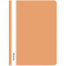 Скоросшиватель пластиковый А4 180мкм оранжевый с прозр. верхом  Berlingo