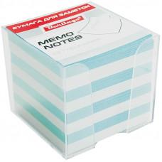 """Блок для записей 90х90х90 мм цветной в прозрачной подставке Berlingo """"Standard"""""""