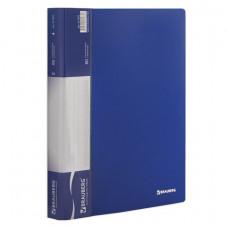 Папка 80 вкладышей синяя 900 мкм 35 мм BRAUBERG стандарт