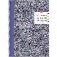 """Тетрадь сп. А4 120 л.кл 7БЦ Hatber """"Colored threads"""", с цв.раздел., с перфорацией"""