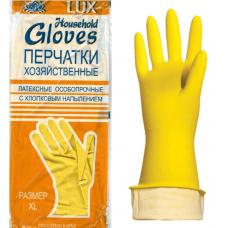 Перчатки р.L хоз. латексные GLOVES LUX с х/б напылением