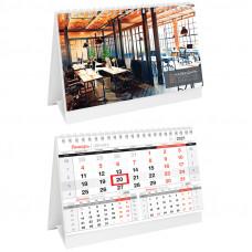 """Календарь-домик OfficeSpace """"Office"""", горизонтальный, на гребне, с бегунком, 2021г."""