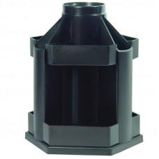 "Подставка-органайзер СТАММ ""Maxi Desk"" вращающаяся, 120х140х175 мм, 10 отделений, черная"
