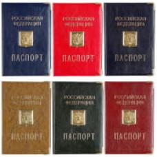 """Обложка для паспорта OfficeSpace ПВХ, шильд, ассорти, тиснение золото """"Герб"""""""