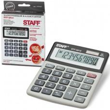 Калькулятор настольный 10 разр STAFF STF-5810, двойное питание, 134х107 мм