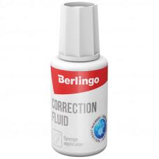 Корректирующая жидкость 20 мл Berlingo на спиртовой основе, с губчатым аппликатором ПРОСРОЧЕН