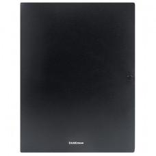 """Папка-конверт на кнопке A4 400мкм, черная с 3 клапанами ERICH KRAUSE """"Classic"""" до 130 листов"""