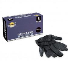 Перчатки нитриловые S Aviora черные 50 пар/уп
