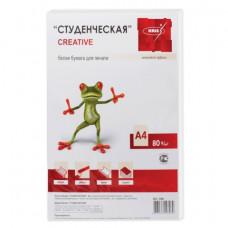 """Бумага A4  CREATIVE """"Студенческая"""", 80 г/м2, 100 л., белая, 146%CIE"""