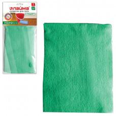 Тряпка д/пола 50×60 см, микрофибра ЛАЙМА «Стандарт», зеленая