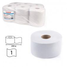 Бумага туалетная ЛЮБАША (Система T2) 1-слойная 12 рулонов по 200 метров, цвет серый