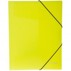 """Папка на резинке  А4, 500 мкм, неоновая желтая Berlingo """"Neon"""""""