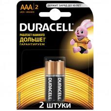 Батарейка LR03 ААА DURACELL BASIC 2 шт/уп