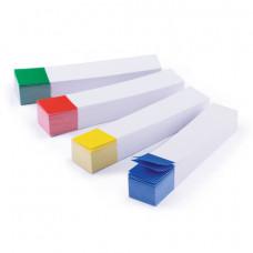 Набор закладок 75х14 мм. 100л. 4цв., бумажные белые, с цветным краем BRAUBERG