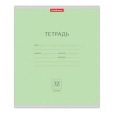 """Тетрадь 12л клетка ERICH KRAUSE, обложка мелованный картон, """"Классика зеленая"""""""
