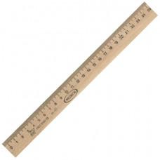 Линейка деревянная, 25 см, С06
