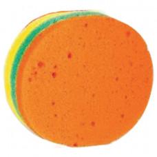 """Мочалка губка, цветной поролон слоями, 11 г (высота 4 х диаметр 11 см), """"Круг Радуга"""", TIAMO """"Origin"""