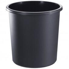 Корзина для бумаг 18л., цельная, черная