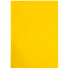 Папка-уголок A4 100мкм, прозрачная желтая, OfficeSpace