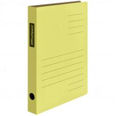Скоросшиватель из микрогофрокартона OfficeSpace, ширина корешка 30мм, желтый, до 300л.