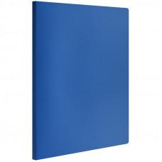 Папка с зажимом 400мкм синяя OfficeSpace