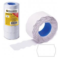 Этикет-лента 26х12 мм, белая  волна,  по 800 шт ком. 5 рулонов , BRAUBERG, 123576