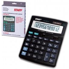 Калькулятор настольный 12 разр STAFF STF-888-12, двойное питание, 200х150мм